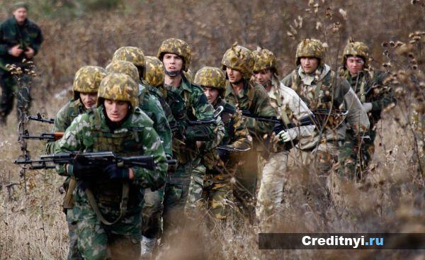 Учении армии